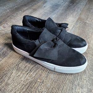 Steve Madden Black Slip On Sneakers Sz 7.5